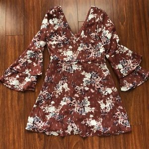 AS U WISH long sleeve floral dress